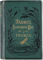 Cover of a later edition of Taunt's 'Illustrated Map of the Thames'