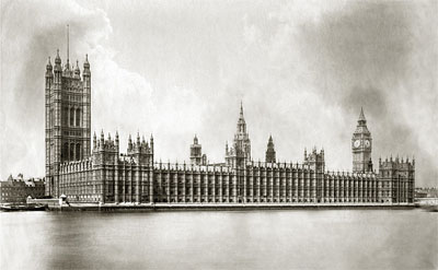Houses of Parliament 1875, photograph by Henry Taunt, reproduced by permission of Oxfordshire County Council OCL10950/52